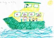 Family on the Stockton Ferry