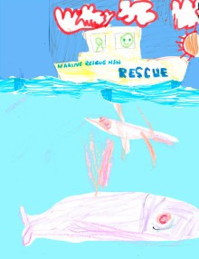 marine rescue, flying fish and whale